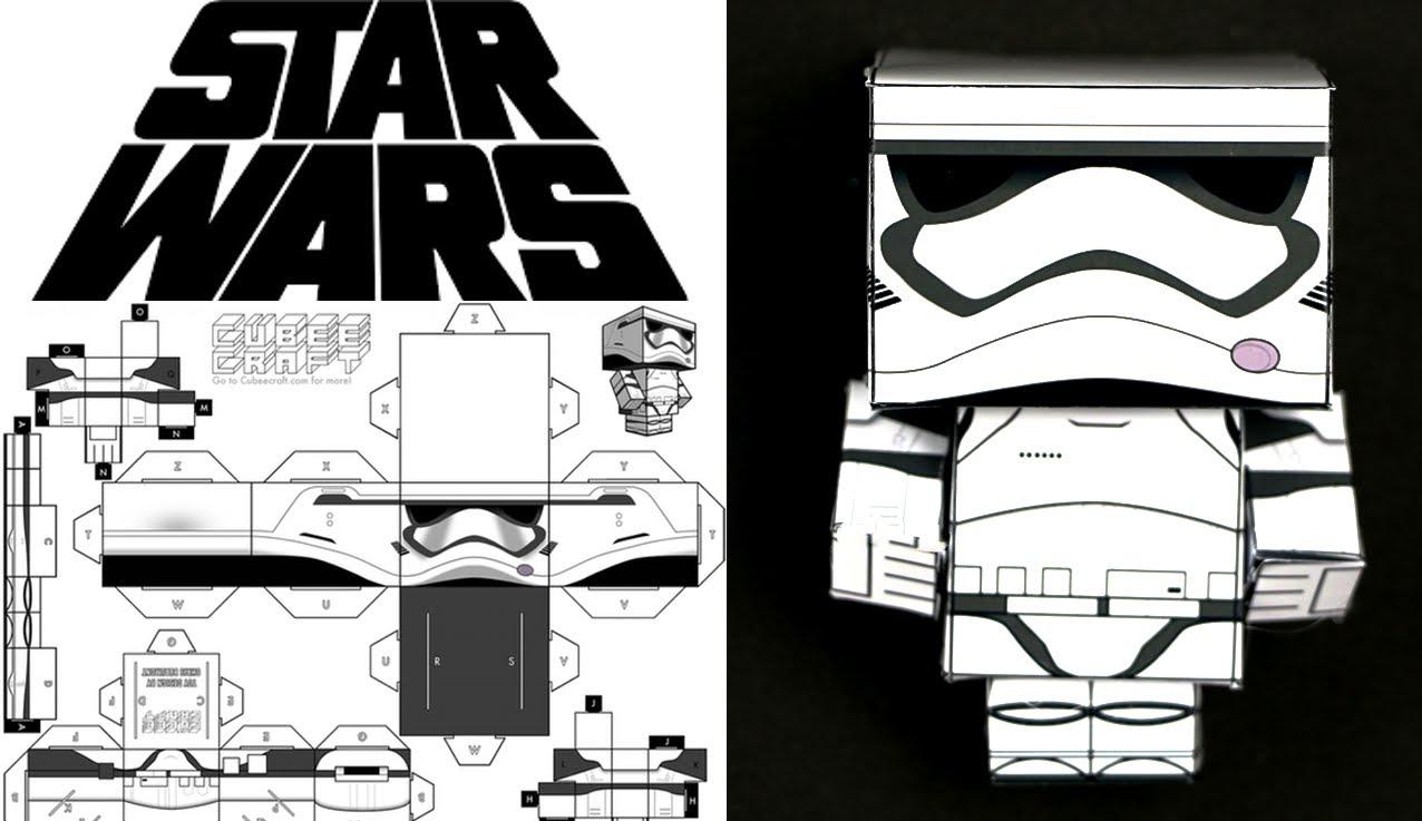 Cómo hacer un Stormtrooper de Star Wars de cubecraft