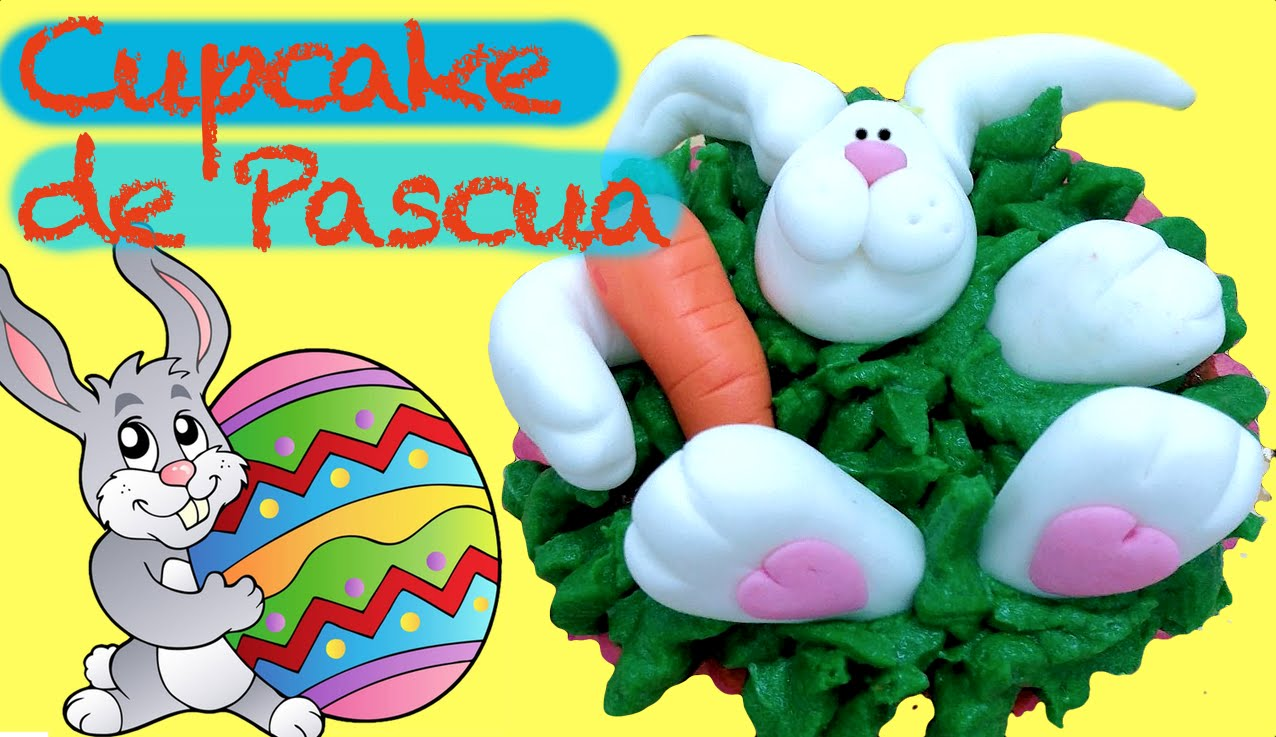 Cupcake de Pascua:  conejo descansando