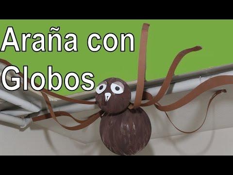 Decoración Halloween: Araña con globos