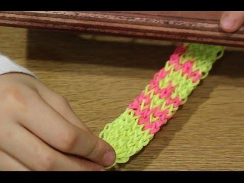 Pulsera de gomitas BFF. Rainbow Loom BFF bracelet