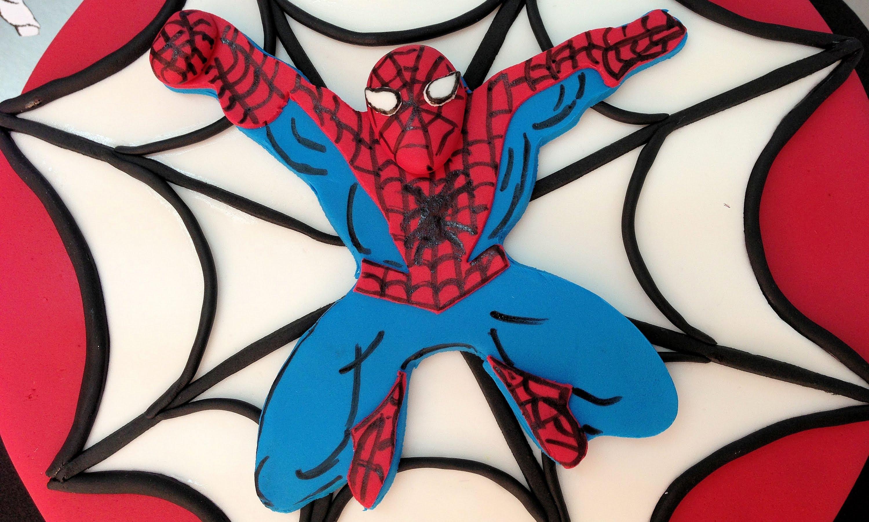 Tarta de fondant de Spiderman