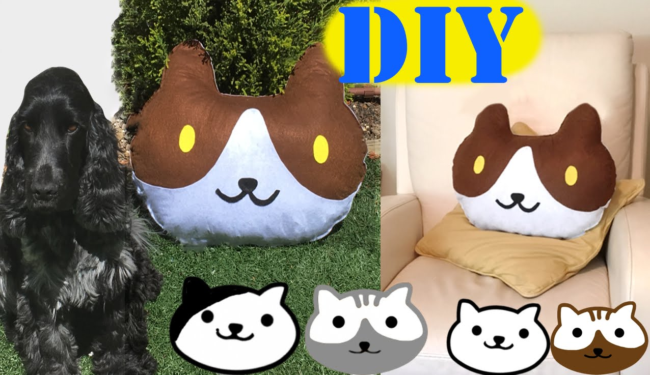 [:es]Almohadón o cojín de gato, sin coser[:en]Neko Atsume Kitty pillow or cushion without sewing[:]