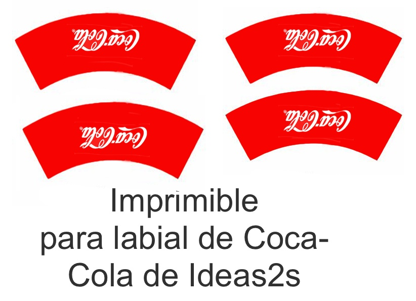 Imprimibles para labial de Coca-Cola
