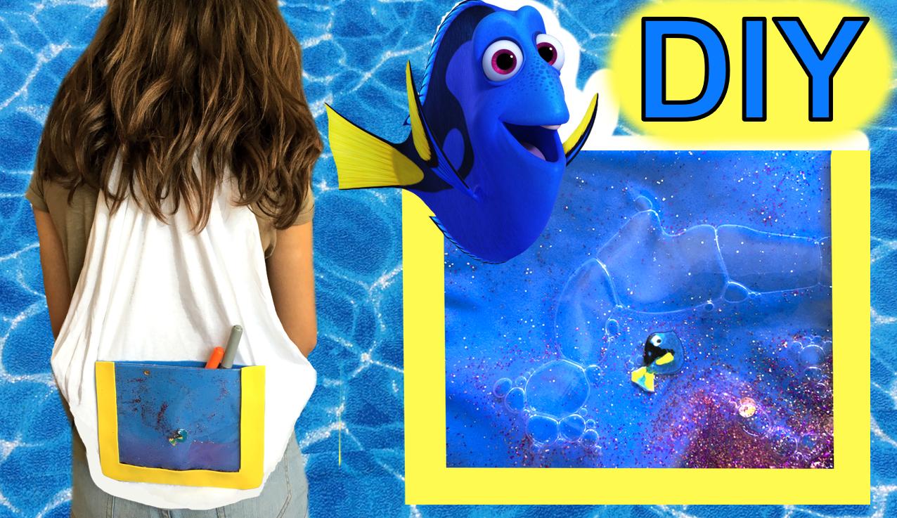 [:es]Cómo hacer un bolso mochila de Dory con una camiseta, sin coser[:]