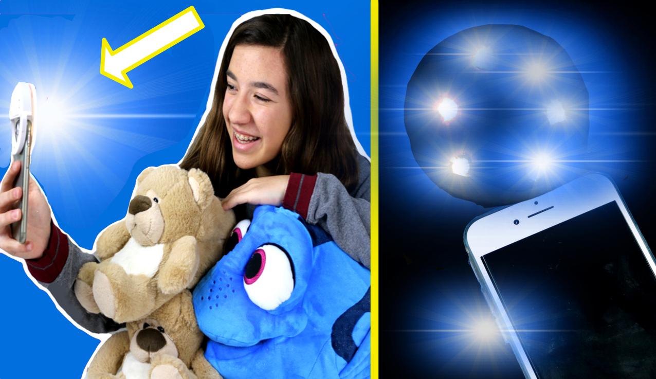 DIY Foco para el móvil para hacer mejores selfies