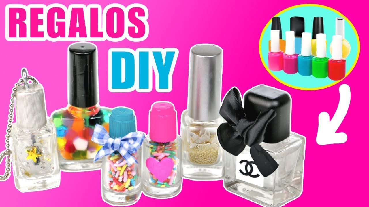 RECICLA tus botes de esmaltes de uñas para hacer REGALOS