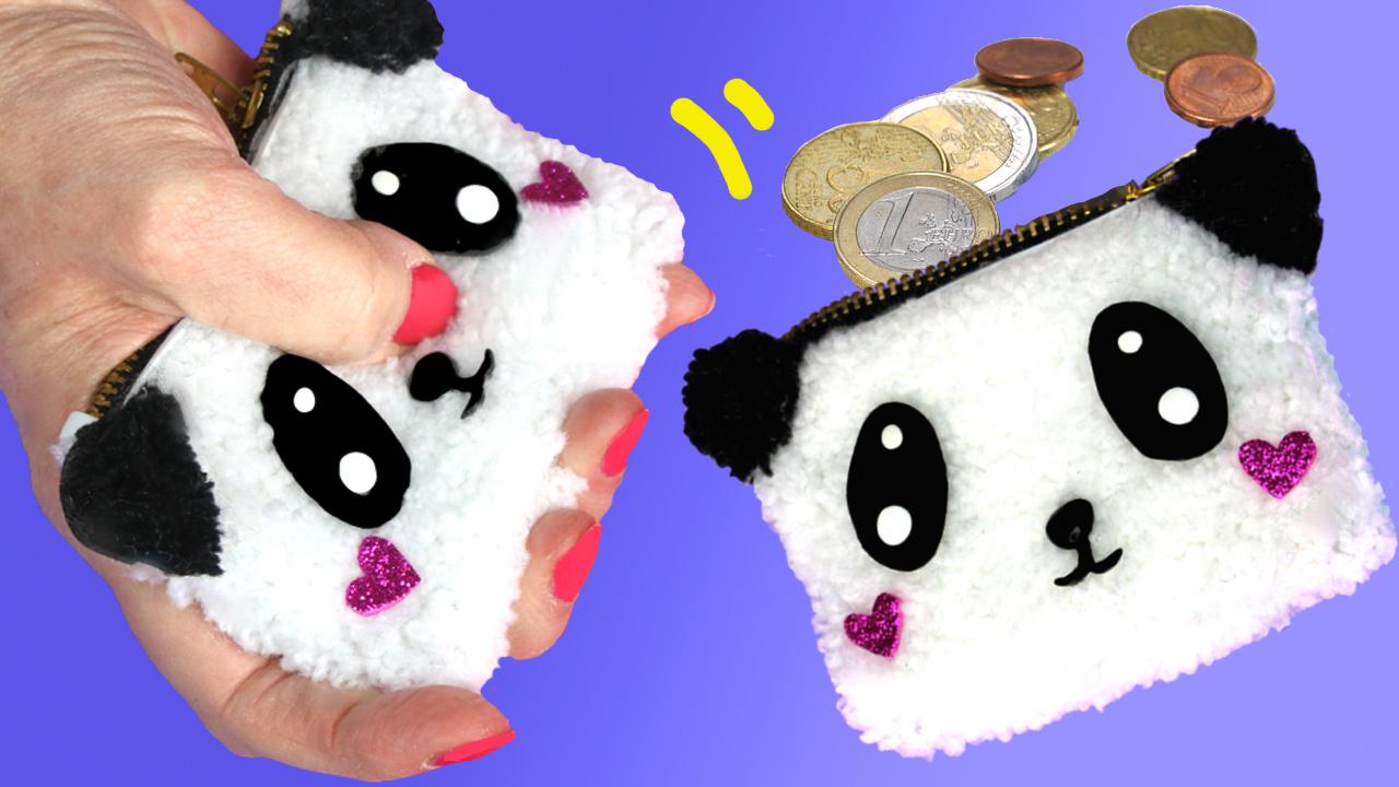 Monedero de peluche Panda
