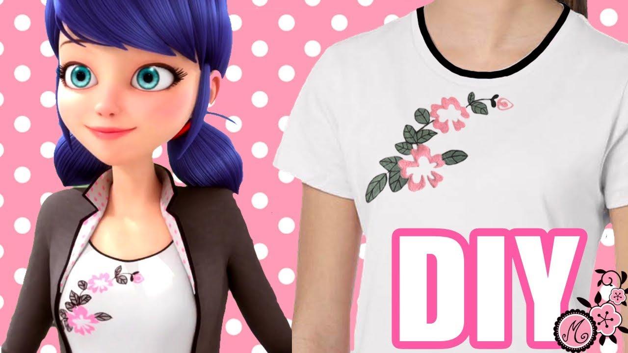 Como Hacer La Libreta De Dibujo De Marinette Prodigiosa: Camiseta Miraculous/Marinette Para Disfraz O Para Vestir A