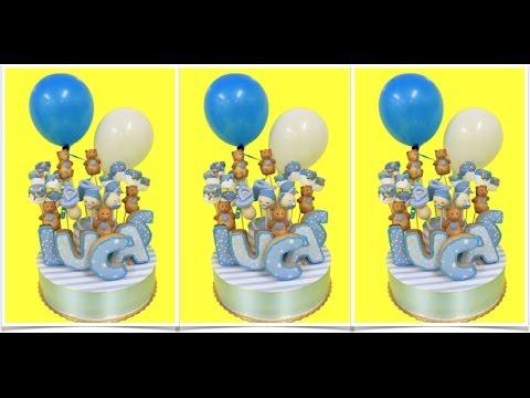 Cómo se hace un centro de mesa con cookies, cake pops y globos
