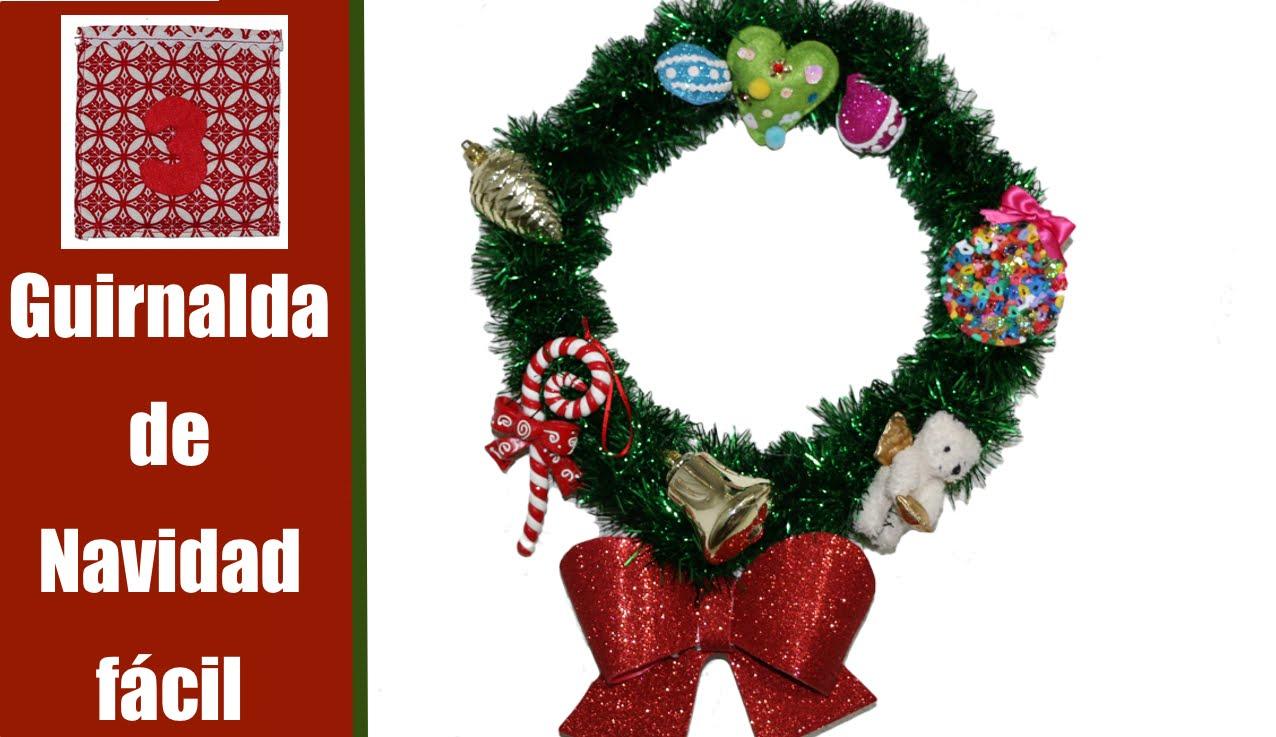 Guirnalda fácil de Navidad para puertas