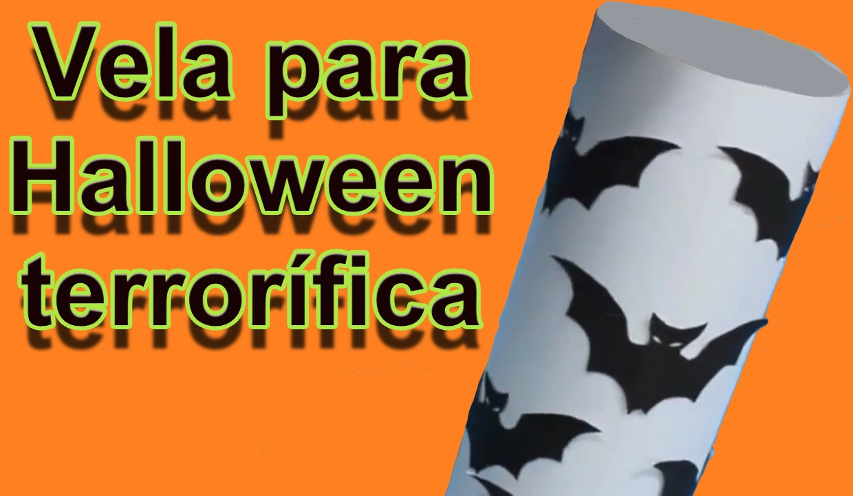 Ideas de Halloween: vela de murcielago