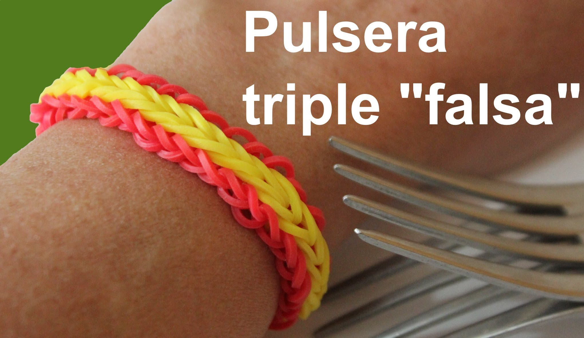 Pulsera de gomitas triple «falsa»