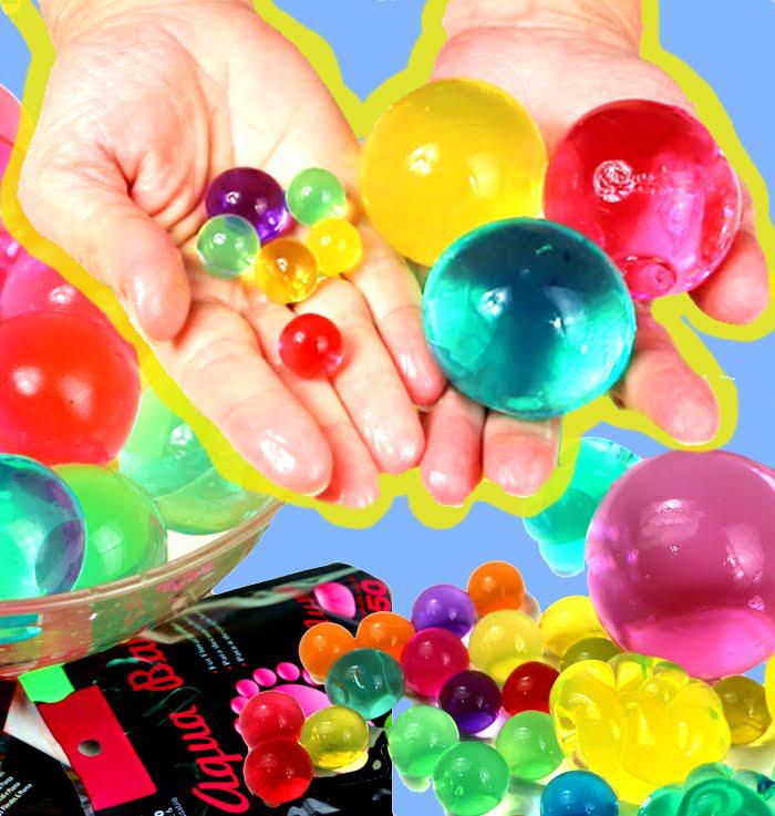 Aqua Balls: canicas de agua gigantes.Aqua Balls: marbles giant water