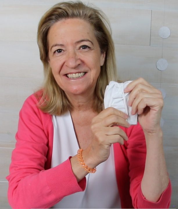 Guardar la mascarilla con papel